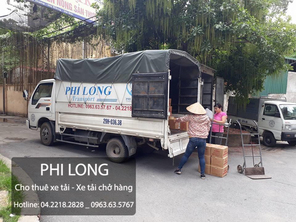 Taxi tải chuyển nhà Phi Long tại phố Nguyễn Khuyến
