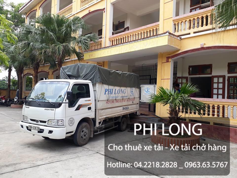 Phi Long cho thuê xe tải chở hàng tại đường Tân Triều