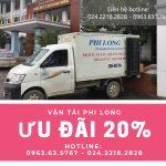 Dịch vụ thuê xe tải giá rẻ tại phố Nhật Chiêu giảm giá 20%