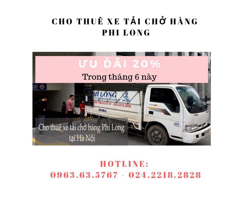 Dịch vụ cho thuê tải tại phố Trần Đăng Ninh
