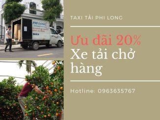 Dịch vụ taxi tải tại xã Vân Hà