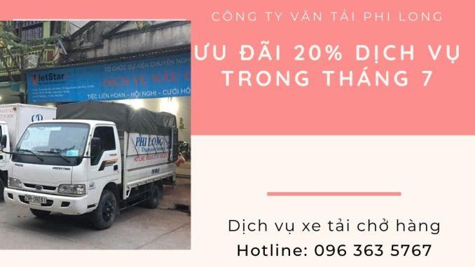 Dịch vụ cho thuê xe tải tại xã Liên Hòa