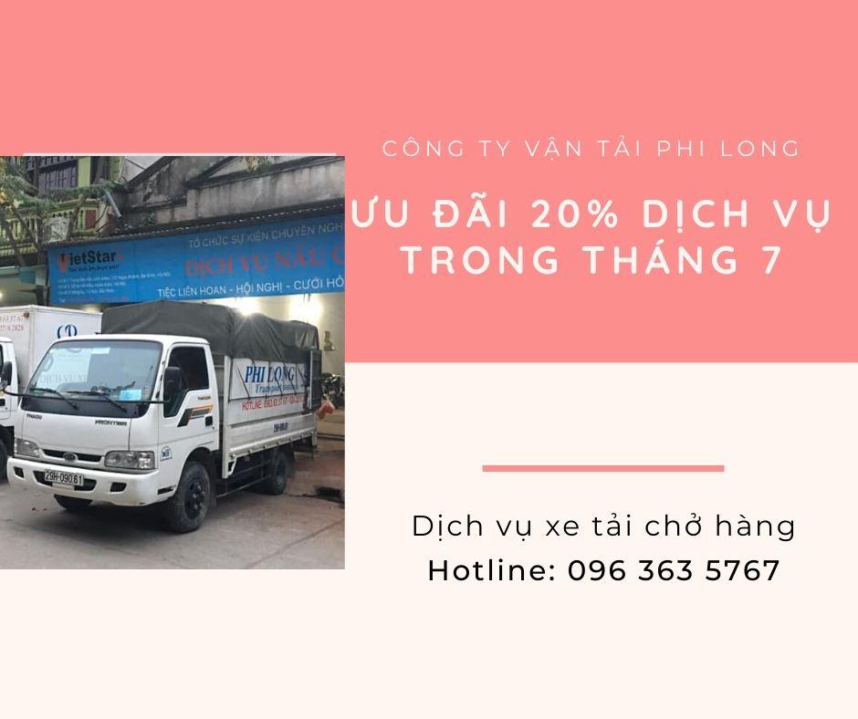 Dịch vụ thuê xe tải Phi Long tại xã Ninh Sở