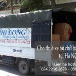 Dịch vụ cho thuê xe tải Phi Long tại phố Quan Nhân